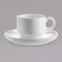 Chef & Sommelier FN031 Infinity 4 1/2 inch White Bone China Saucer by Arc Cardinal - 24/Case