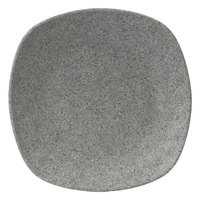 Elite Global Solutions RT10SQ-GS Tenaya 10 inch Granite Stone Square Melamine Plate with Rounded Edges - 6/Case