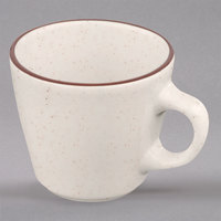Homer Laughlin 107427 Sand Dunes 6.75 oz. Brown Speckled China Virginia Cup - 36/Case