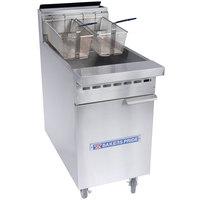 Bakers Pride BPF-6575 Restaurant Series Natural Gas 65-75 lb. Floor Fryer - 152,000 BTU
