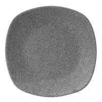Elite Global Solutions RT8SQ-GS Tenaya 8 inch Granite Stone Square Melamine Plate with Rounded Edges - 6/Case