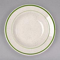 Homer Laughlin 2531901 Sand Dunes 12.75 oz. Green Speckled China Rolled Edge Rim Soup Bowl - 24/Case