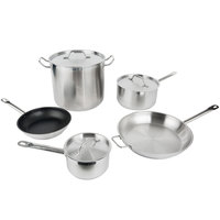 Vigor 8-Piece Stainless Steel Induction Ready Cookware Set