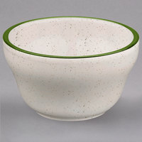 Homer Laughlin 1011901 Sand Dunes 7.25 oz. Green Speckled China Bouillon - 36/Case