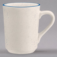Homer Laughlin 1301537 Sand Dunes 8.25 oz. Blue Speckled China Denver Mug - 36/Case