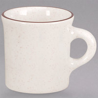 Homer Laughlin 300427 Sand Dunes 8.75 oz. Brown Speckled China Mug - 36/Case