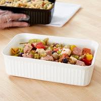 Carlisle 811002 5 lb. White Rectangular Deli Crock
