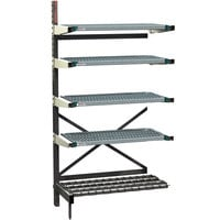 Metro SM761842-ADD-PRO-4 SmartLever Add On Unit with 4 Super Erecta Pro Shelves and Dunnage Base - 22 inch x 35 inch x 76 inch