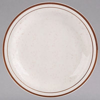 Homer Laughlin 212427 Sand Dunes 6 1/2 inch Brown Speckled Narrow Rim China Plate - 36/Case
