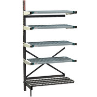 Metro SM761848-ADD-PRO-4 SmartLever Add On Unit with 4 Super Erecta Pro Shelves and Dunnage Base - 22 inch x 51 inch x 76 inch