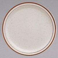 Narrow Rim Brown Speckle China Dinnerware