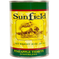 20 oz. Pineapple Tidbits in Juice - 12/Case