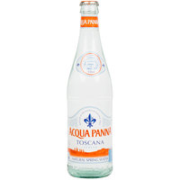 Acqua Panna 500 mL Natural Spring Water in Glass Bottle - 24/Case