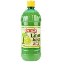 Castella 32 oz. 100% Lime Juice - 12/Case