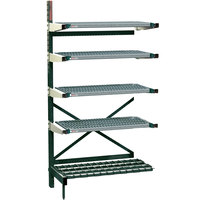 Metro SM761854-ADD-NK3-4 SmartLever Add On Unit with 4 Super Erecta Metroseal 3 Shelves and Dunnage Base - 22 inch x 57 inch x 76 inch