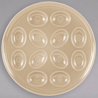 Homer Laughlin 724330 Fiesta Ivory 11 1/4 inch Egg Tray - 4/Case