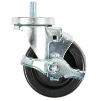 4 inch Refrigeration Swivel Stem Caster with Brake for Turbo Air TOM, TGM and TGF Series