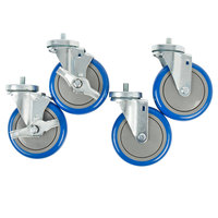 Advance Tabco Equivalent 5 inch Enclosed Base Table Swivel Stem Casters - 4/Set