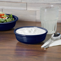 Homer Laughlin 460105 Fiesta Cobalt Blue 14.25 oz. Small Nappie Bowl - 12/Case