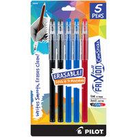 Pilot 32442 FriXion ColorSticks Assorted Ink with Assorted Barrel Color 0.7mm Erasable Gel Stick Pen - 5/Pack