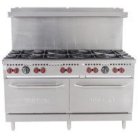 Vulcan SX60-10BN SX Series Natural Gas 10 Burner 60 inch Range with 2 Standard Ovens - 340,000 BTU