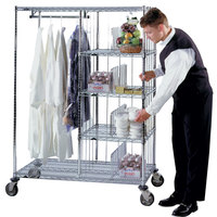Metro HVDC2448 Valet / Laundry Hotel Cart - 24 inch x 48 inch x 24 inch