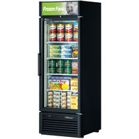 Turbo Air TGF-23SD Black 27 inch Super Deluxe Glass Door Merchandising Freezer