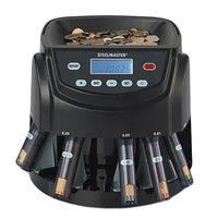 Steelmaster 200200C 14 1/5 inch x 11 1/14 inch x 13 3/8 inch Black Plastic Coin Counter / Sorter - 120V