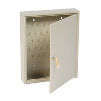 Steelmaster 201806003 Dupli-Key 14 inch x 3 1/8 inch x 17 1/2 inch Sand Welded Steel Two-Tag 60-Key Cabinet