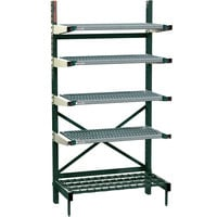 Metro SM761860-NK3-4 SmartLever Starter Unit with 4 Metroseal 3 Shelves and Dunnage Base - 22 inch x 64 inch x 76 inch