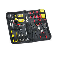 Fellowes 49106 55-Piece Computer Tool Kit with Black Vinyl Zipper Case