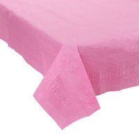 Creative Converting 711344 54 inch x 108 inch Candy Pink Tissue / Poly Table Cover - 6/Case
