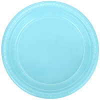 Creative Converting 28157021 9 inch Pastel Blue Plastic Plate - 20/Pack