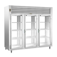 Traulsen AHT332NPUT-FHG 73.1 Cu. Ft. Three Section Glass Door Narrow Pass-Through Refrigerator - Specification Line