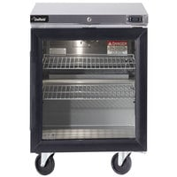Delfield GUR24P-G 24 inch Glass Door Undercounter Refrigerator