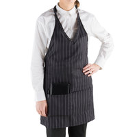 Choice Pinstripe Tuxedo Apron with Pockets 32 inchL x 29 inchW