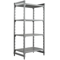 Cambro CPU243672V4480 Camshelving® Premium Shelving Unit with 4 Vented Shelves 24 inch x 36 inch x 72 inch