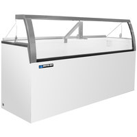 Master-Bilt DD-88LCG 91 inch Low Curved Glass Ice Cream Dipping Cabinet