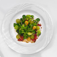 Arcoroc S0603 Horizon 9 1/4 inch White Porcelain Brunch Plate by Arc Cardinal - 24/Case