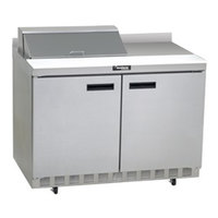 Delfield ST4448N-8 48 inch 2 Door Refrigerated Sandwich Prep Table with 4 inch Backsplash