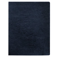 Fellowes 52136 8 3/4 inch x 11 1/4 inch Navy Classic Grain Texture Binding System Cover   - 200/Pack