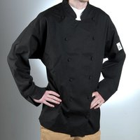 Chef Revival J017BK-XL Chef-Tex Breeze Size 48 (XL) Black Customizable Cuisinier Chef Jacket