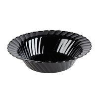 WNA Comet CWB10180BK Classicware 10 oz. Black Plastic Bowl - 180/Case