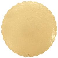 16 inch Gold Laminated Corrugated Cake Circle - 10/Pack