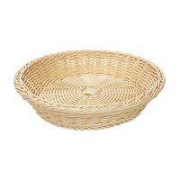 GET WB-1502-N Designer Polyweave 11 1/2 inch x 2 3/4 inch Natural Round Plastic Basket