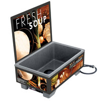 Vollrath 720200102 Full Size Soup Merchandiser Base with Menu Board and Tuscan Graphics - 120V, 1000W
