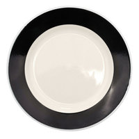 CAC R-16 BLACK Rainbow Dinner Plate 10 1/2 inch - Black - 12/Case