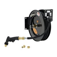 Equip by T&S 5HR-232-09-A 35' Open Hose Reel with Quick Disconnect Front Trigger Spray Valve and Reducing Adapter