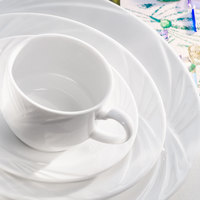 Arcoroc S0638 Horizon 8 oz. White Porcelain Stackable Coffee Cup by Arc Cardinal - 24/Case