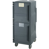 Cambro CMBPHD615 Charcoal Gray Combo Cart Plus with Heavy Duty Casters